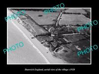 OLD LARGE HISTORIC PHOTO OF DUNWICH ENGLAND, AERIAL VIEW OF THE VILLAGE c1920