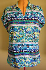 Ladies Womens Casual Cap Sleeve Button Up Shirt Blouse Top Laura T Size 42 (16)