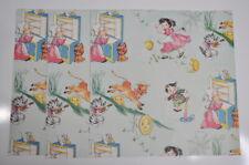 Scrapbook paper 12x12 Vintage Nursery Rhyme 3 Cardstock Pages scrapbooking New