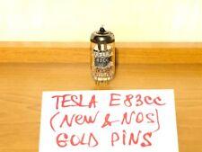 1x Tesla E83CC / ECC83 / 12AX7 / ECC803S (NEW, NOS, GOLD PINS, CODE - UD) 1974