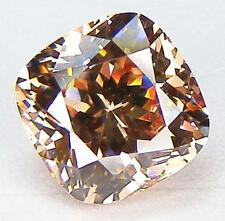 EXCELLENT CUT CUSHION 9x9 MM. CHAMPAGNE RUSSIAN CUBIC ZIRCONIA CZ
