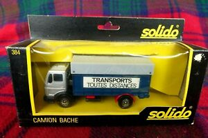"""SOLIDO """"Toner Gam"""" #384 Mercedes 1217 K/32 covered truck (MIB) Made in France"""