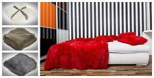 Luxury Soft Cosy Fur Fluffy Blanket Throw/ Cushion Cover Bed Sofa Warm 2 SIZES