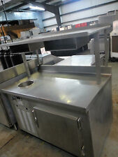 Refridgerated Stainless Steel Steamer Table W/ One Round Warming Well