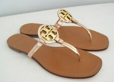 TORY BURCH Mini Miller Sandals Rose Gold Leather Size 8 New With Box FREE SHIP