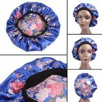 Moda Noche de sueño Hat Señoras turbante Gorro para el cabello Satin Bonnet