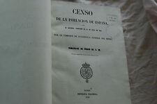 LIVRE DU RECENSEMENT DE LA POPULATION ESPAGNOLE EN 1958