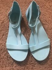 Girls Sz 1 GAP teal Jelly Sandals Shoes