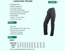 Womens Elasticated Trousers Navy Ladies Ashdan Dress 20 Waist 38R Leg 29.5 M-102