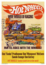 VINTAGE REPRODUCTION RACING POSTER HOT WHEELS SNAKE MONGOOSE DRAG RACING