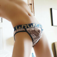 Mens Printed Bulge Underwear Sexy Triangle Briefs Bikini Underpants Lingerie