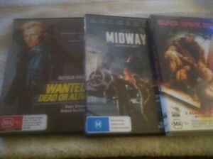 DVDS X 3..ACTION.. MIDWAY / WANTED DEAD OR ALIVE / BLACK HAWK DOWN