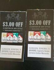 $6 off any style Marlboro Cigarettes (2x's $3 off any style carton)  exp 9/30/20