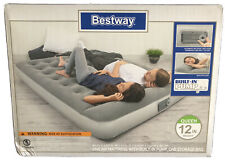 Queen Size Air Bed Mattress Inflatable Built In AC Pump Sleeping Camping SEALED!