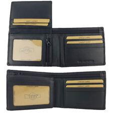 Genuine Cowhide Leather RFID PROTECTED / SAFE Black Men's Wallet