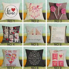 17''Word Print Cushion Cover Throw Pillow Case Sofa Chair Cushion  Decorative