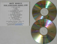 Matt Morris - When Everything Breaks Open +  instrumentals - U.S. promo 2 cd
