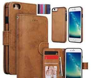 IPhone 6 Plus  6s Plus  leather wallet case detachable magnetic phone holder