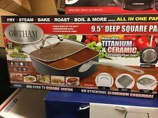 "GOTHAM STEEL 9.5"" Deep Square Pan 4pc Set - New in Box"