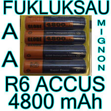 8 x PILES AA | PILES ACCUS RECHARGEABLE MIGNON 4800mAh Ni-MH 1,2V R6 LR06 NEW