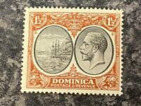DOMINICA POSTAGE & REVENUE STAMP SG75 1 1/2D LIGHTLY MOUNTED MINT
