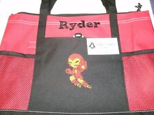 Iron Man Kid Flying Personalized Tote Bag Iron Man Superhero Tote