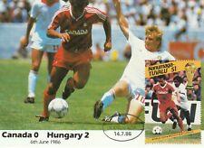 1986 Nanumaga-Tuvalu card Football World Cup Mexico-match Canada-Hungary