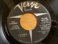 ELLA FITZGERALD - Stairway To The Stars / I'm Thru With Love 1959 VERVE Jazz 7""