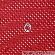 BonEful Fabric FQ Cotton Quilt VTG Red White Blue American Flag Star Stripe Bias