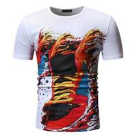 T shirts blouse t shirt casual slim fit summer men's o neck tops short sleeve