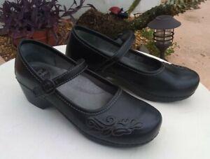 Dansko  Clogs Mary Jane's womens 40  (9.5-10) US Black Leather