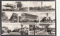 Postcard Birmingham multiview posted 1960 Elmdon Airport and Fire Station RP
