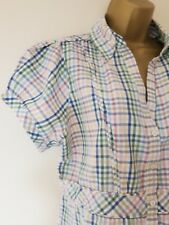 LOVELY FAT FACE BLOUSE TOP SZ M IN VGC! CHECKED, CASUAL