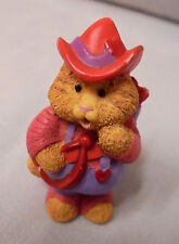 Hallmark Cards Inc. Valentine Merry Minature Cat, Cow Boy Hat, Bow & Arrows 1996