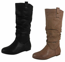 Women's Pull on Casual Knee High Boots