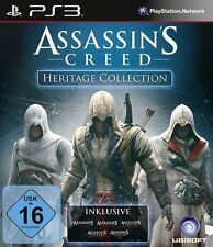 Sony ps3 * figuras assassins creed heritage Collection 1+2+3+ Brotherhood + Revelations nuevo