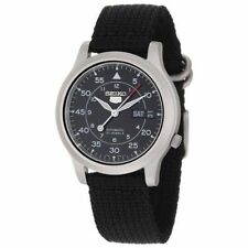 Seiko Stainless Steel Case Black Cloth Band - (SNK809K2)