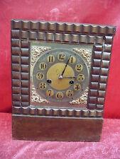 Antiguo Reloj de Chimenea __ Reloj de Péndulo __ Holz-Messing __ 32cm