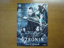 Keanu Reeves 47 Ronin MOVIE FLYER  mini poster chirashi ver.2 Japanese