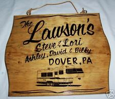 5th WHEEL TRAVEL TRAILER PERSONALIZED RV  WOOD SIGN w/ YOUR NAME & TOWN
