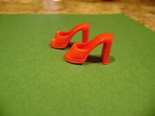 Barbie Red Backless Open Toe Heels Sandals Mules Shoes