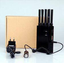 Jammer Gsm / Gps 8 Bandes 3g 4g Wifi Gps Lojack 20 Meter Inhibitor Wave Blocker
