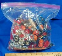 HUGE LOT Ertl Replacement Parts Wheels Rims Model Toy Blue Red Gold Car Airplane
