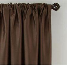"*Royal Velvet Plaza Lined Blackout Rod-Pocket Curtain Panel 50""Wx84""L Brown NEW"