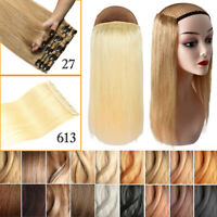 Remy Clip in Human Hair Extensions 8pcs 3/4 Full Head One Piece Invisible Hair
