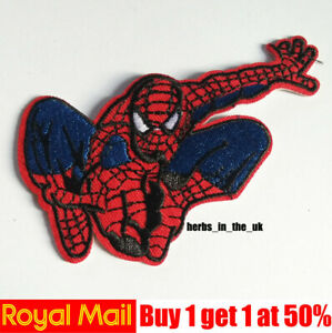 Spiderman Superhero Marvel Iron on Sew on Embroidered Patch applique