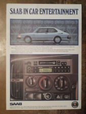 SAAB IN CAR ENTERTAINMENT orig UK Mkt Sales Brochure - Radios Stereo Cassettes