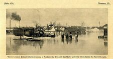 A través de inundaciones destruyó eisenbahnline North-Memphis EE. UU. 1903