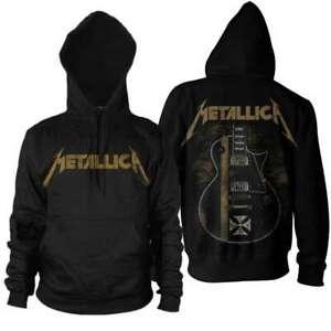 Metallica Hetfield Iron Cross Official Men's Black Pullover Hoodie