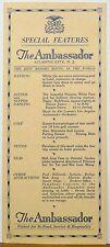 1920's The Ambassador Atlantic City New Jersey Princess White Deer Abe Lyman b